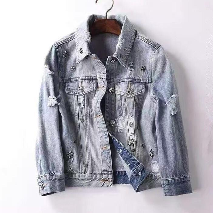 ANATA Little Girl Denim Jacket Button Down Jean Jacket Long Sleeve Denim Coat