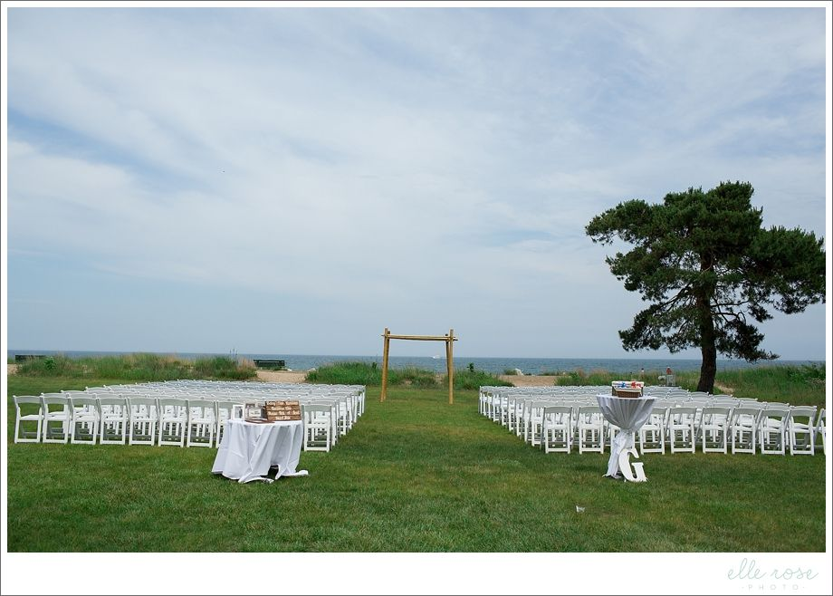 Chicago Beach Wedding Jeff Cara Illinois Resort Outdoor Ceremony Elle Rose Photo