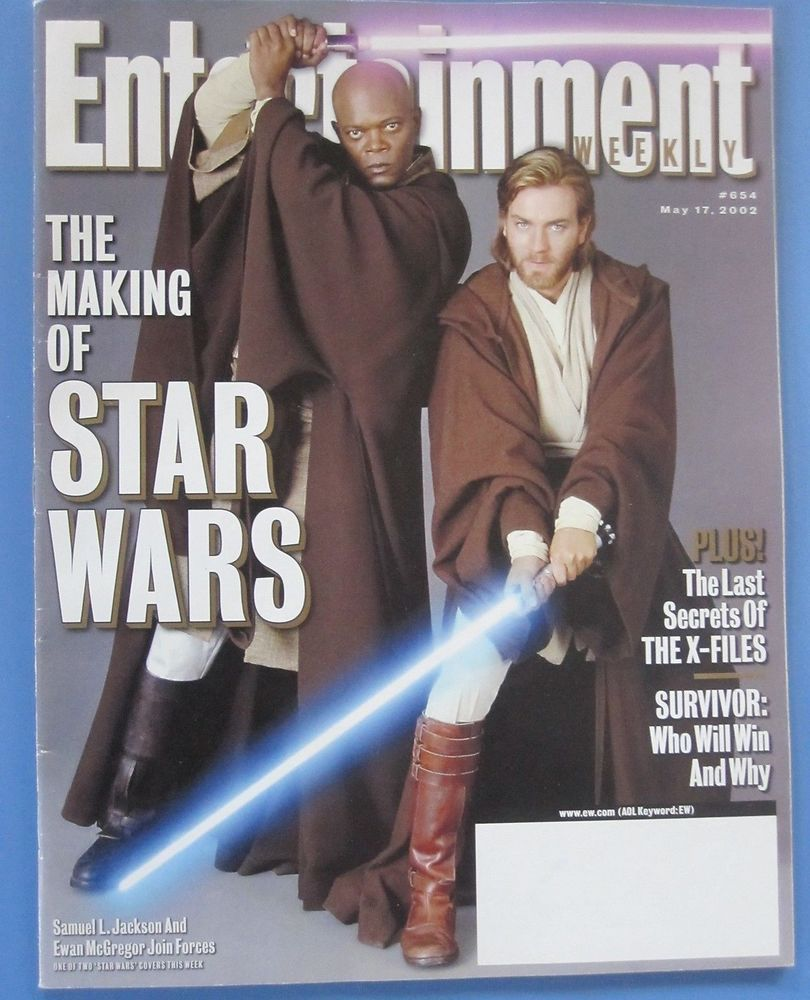 ewan mcgregor samuel l jackson stars magazine entertainment 2002 #starwars from $4.0