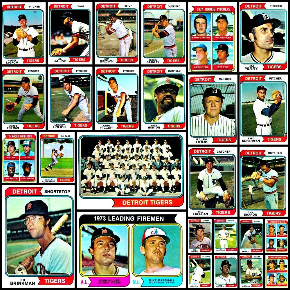 1974 topps baseball cards complete set