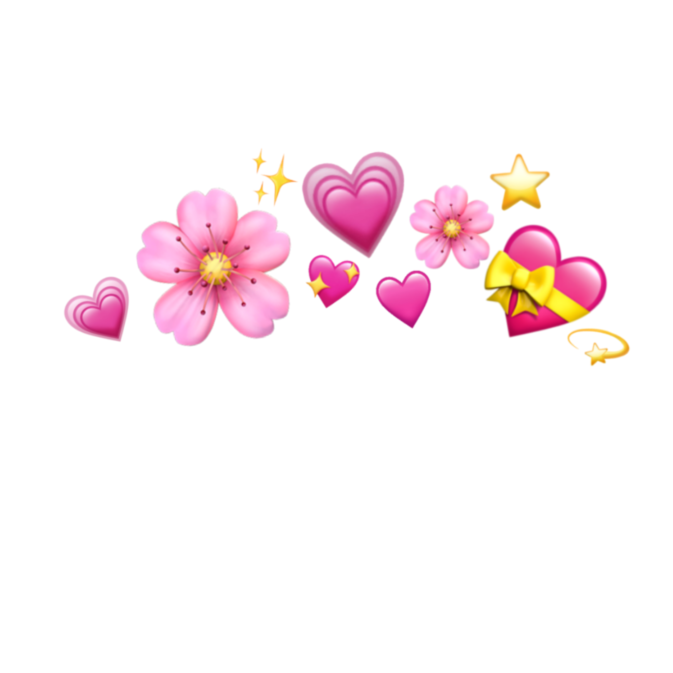 emoji crown hearts emojis tumblr icon sticker by