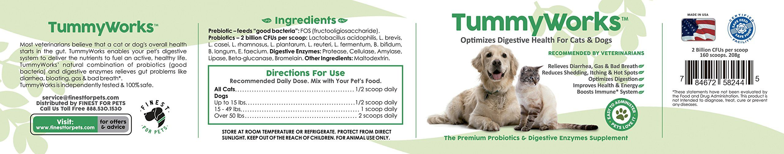 Probiotics for Dogs and Cats. Best Powder To Relieve