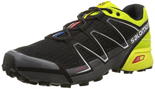 40b7c1cbba Salomon Men's Speedcross Vario Trail Running, Black, 8 D US ...