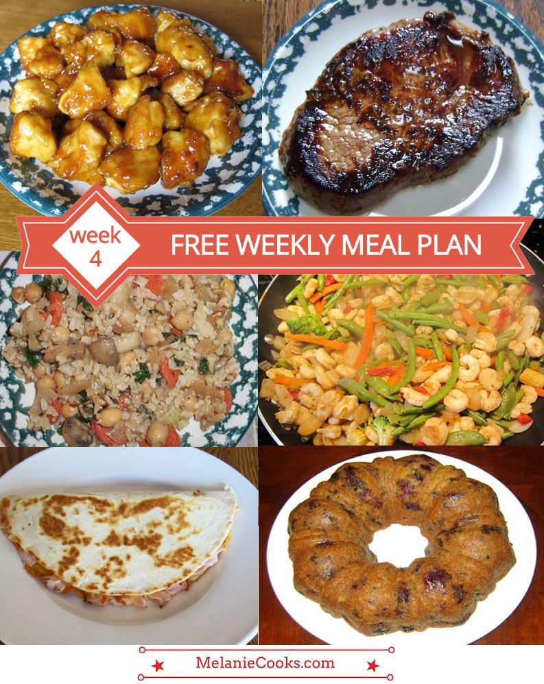 free weekly meal plan – family dinner menu ideas (week 4) | weekly