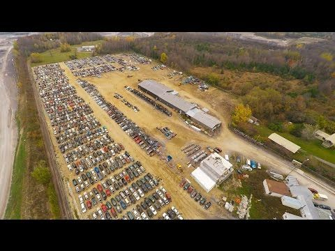Canada S Largest Junkyard With Free Auto Parts Scrap Car Cars For 500 Junkyard