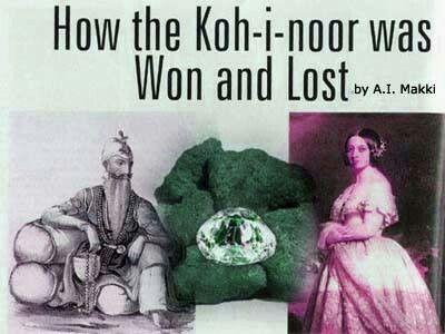 Maharaja Ranjitsingh and kohinoor diamond