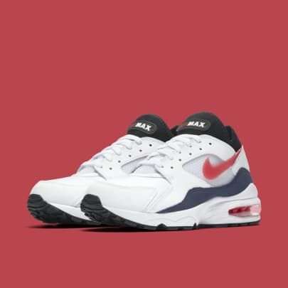 983704ee4f8072 Nike Air Max 93  Flame Red  White Habanero Red-Neutral Indigo-Black  306551-102 Release Date