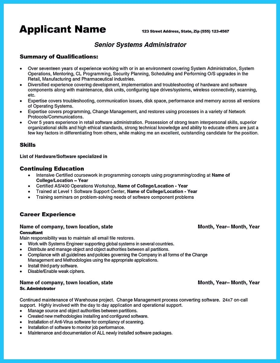 Cool Attract Your Employer With Defined Administrator Resume
