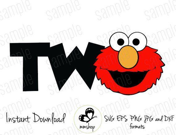Two Elmo Sesame Street Instant Download Svg Files Sesame Street Birthday Sesame Street Birthday Party Sesame Street Birthday Invitations
