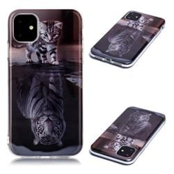 Cat and Tiger Soft TPU Cell Phone Back Cover for iPhone 11 (6.1 inch) #iphone11