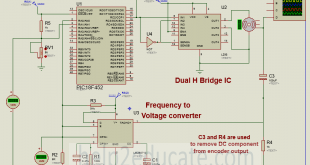 Schematic for PID speed control of DC motor using microcontroller ...