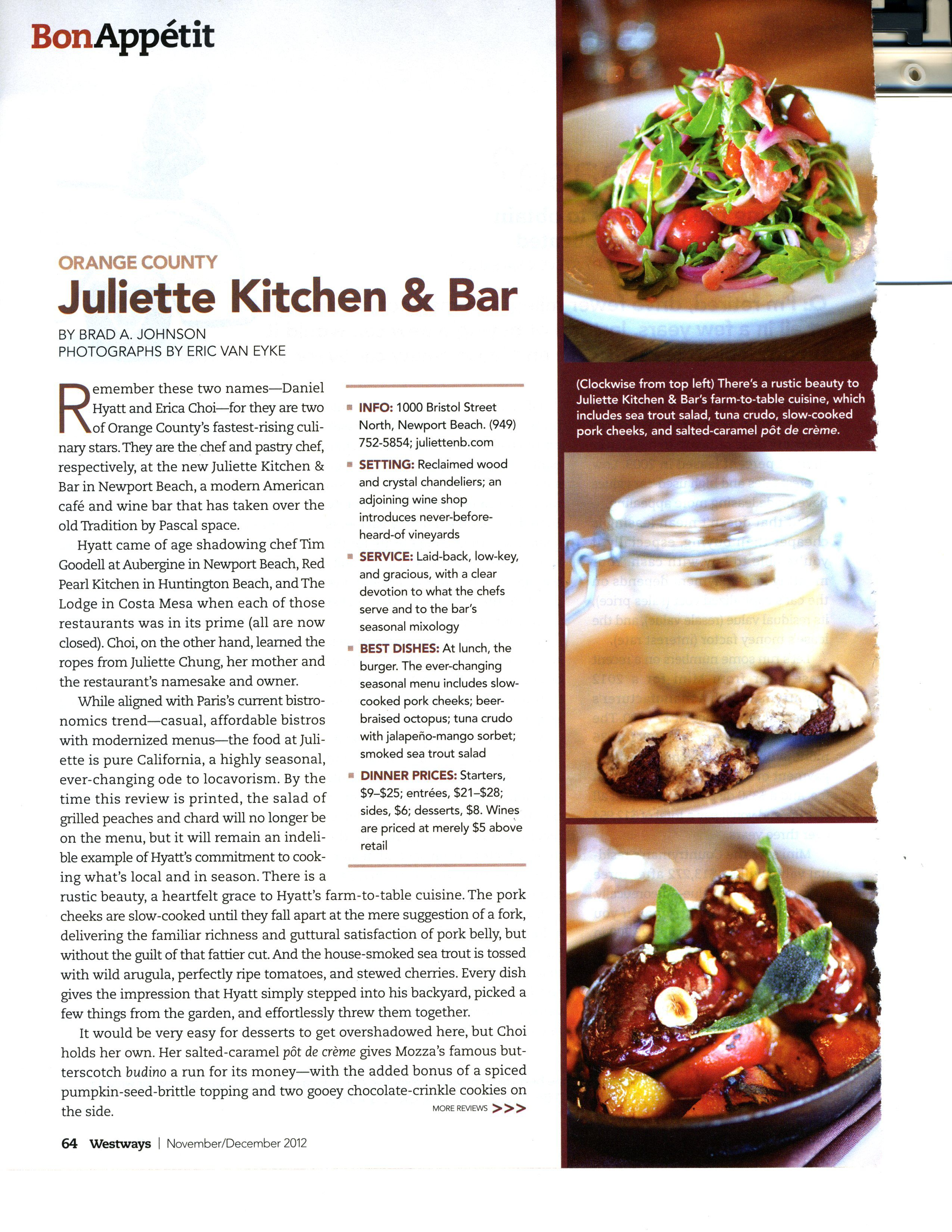 Juliette Kitchen Bar Dining Decisions Dining Beef