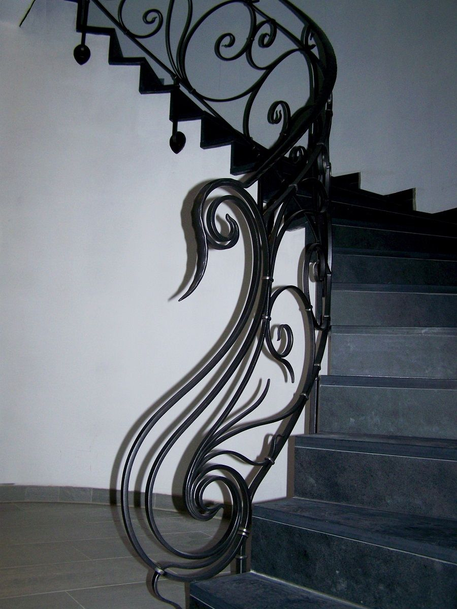 wrought iron art nouveau rampe d 39 escalier en fer forg art nouveau art forging. Black Bedroom Furniture Sets. Home Design Ideas