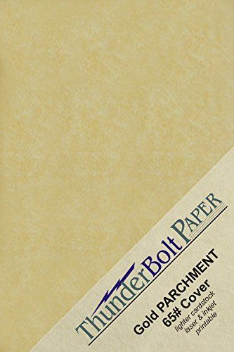 200 Gold Parchment 65lb Cover Weight Paper 5 5 X 8 5 5 5x8 5 Inches Half Letter Satement Size Printable Cover Paper Card Stock Coloring Sheets