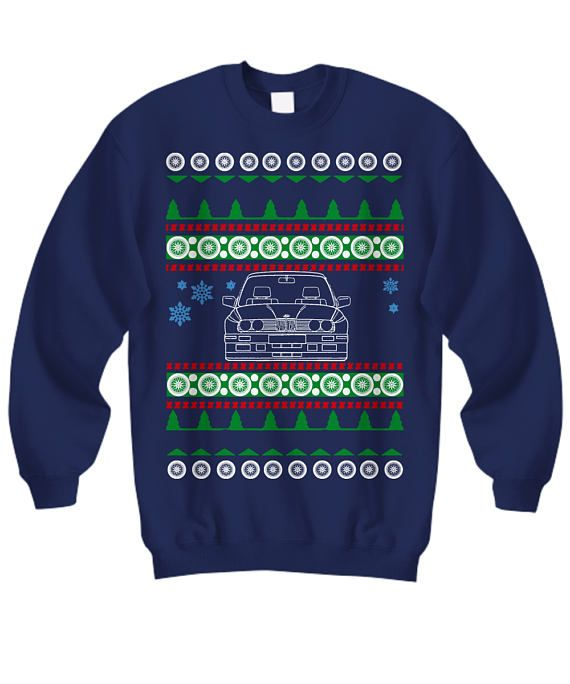 Christmas Gift for BMW E30 M3 owners Ugly Christmas Sweater euro stance drifter Sweatshirt lowered p