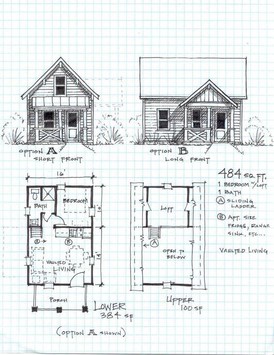 Image result for cheap 24x16 cottage | Small cabin plans, Small ...