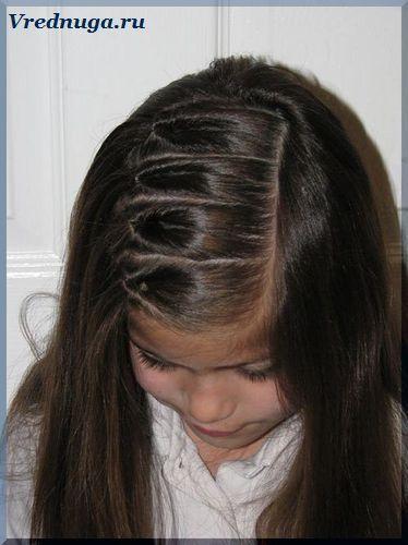 Колоски и косы - прически для девочек   Прически, Прически ...