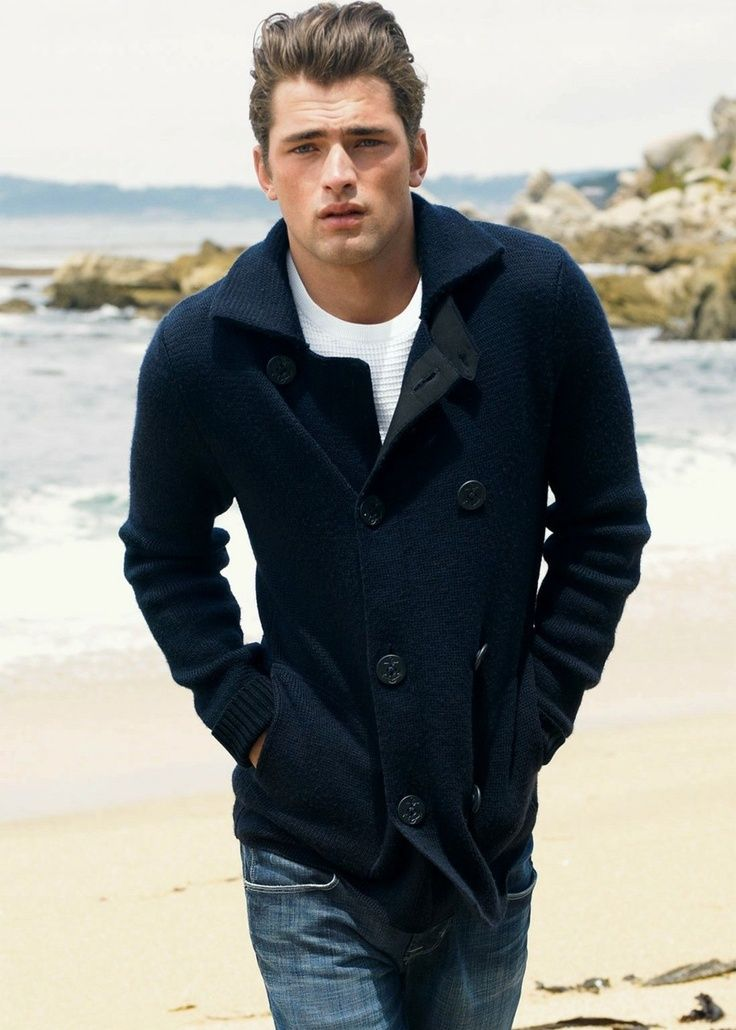 Men 39 S Peacoat Sweater In Navy Love This For Him