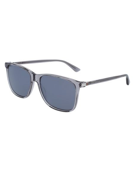 6b948cf1db1a GUCCI Translucent Acetate Square Sunglasses, Gray. #gucci # | Gucci ...