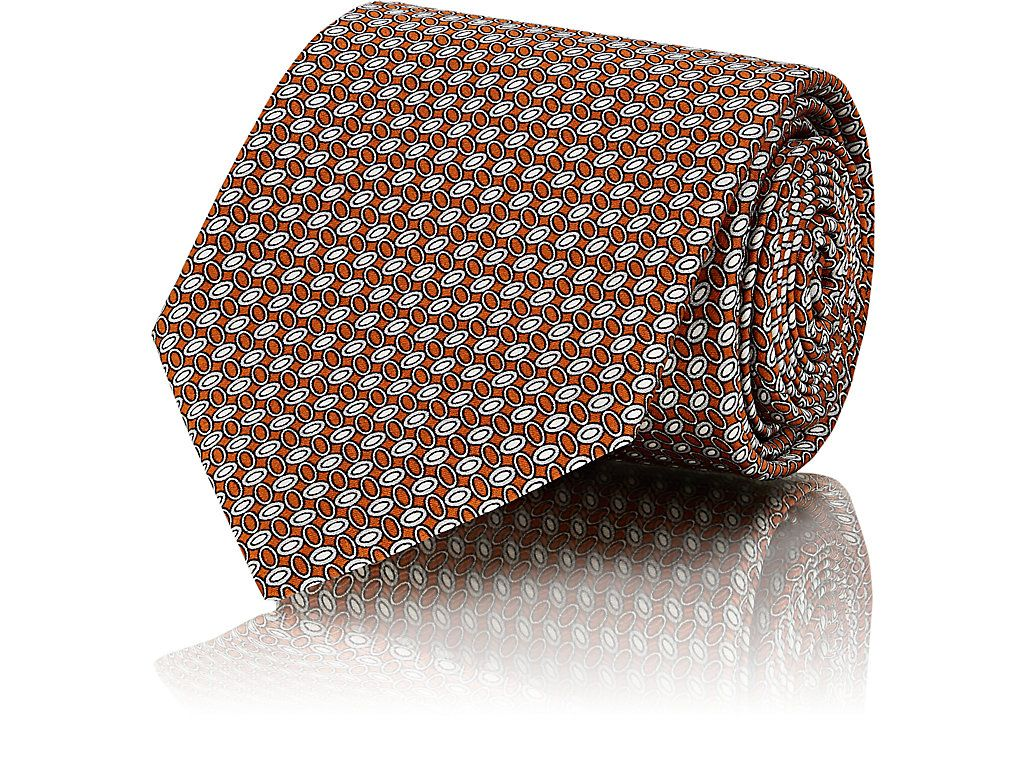 Mens Neat-Patterned Silk Necktie Brioni 5VXxKCaQ