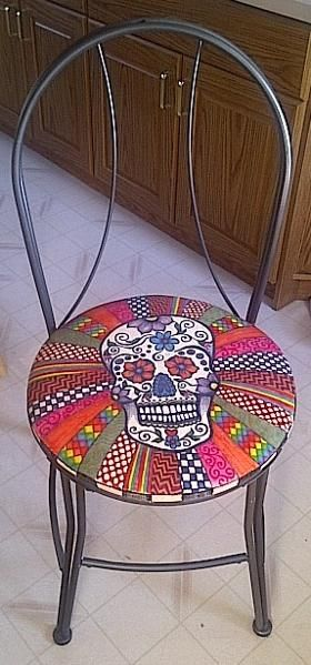 Sugar Skull Chair Other Ideas Project On Craftsy