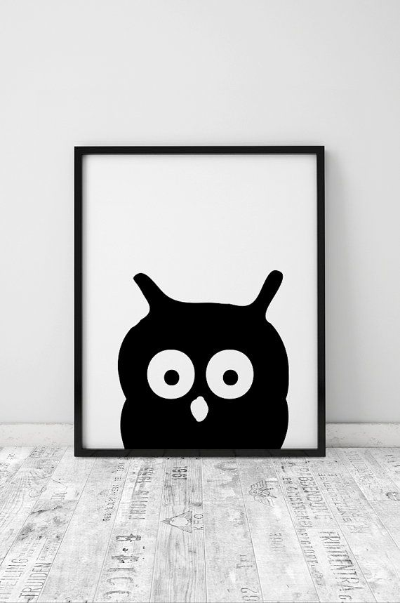 Nursery prints nursery wall art printable nursery wall decor black and white nursery art kids room art scandinavian print instant download