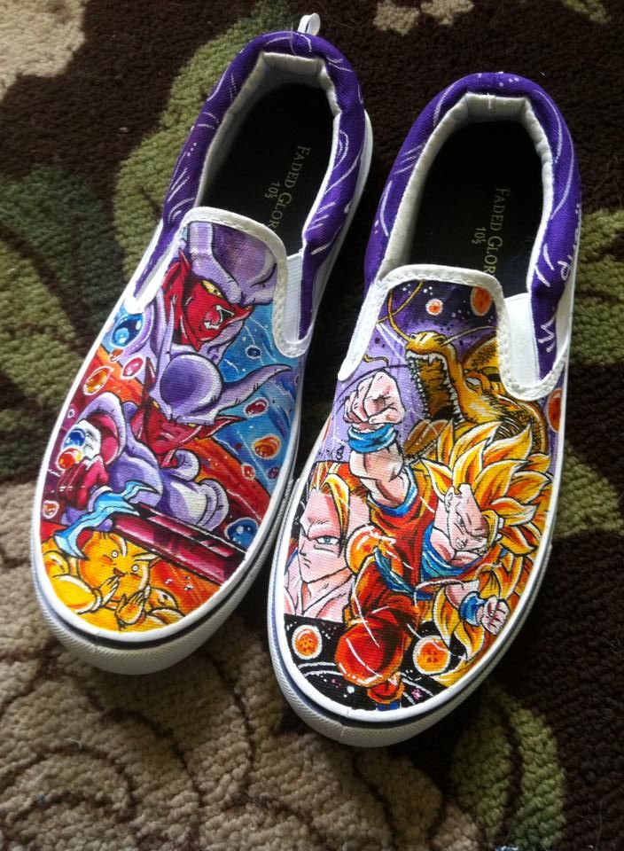 a84129ba05b993 Need custom shoes contact me - Here are a pair of DBZ shoes I created size