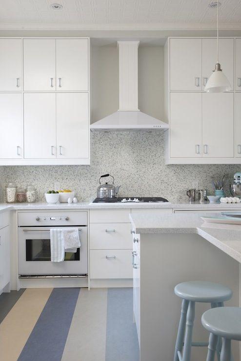 Sarah Richardson Design Ikea Kitchen Cabinets Eco By Cosentino White Diamond Countertops Mosaic Tiles
