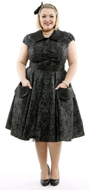 bc0df9e11ad9b3 PETER PAN Kleid - 50s Retro Kleid - schwarz/grau | Das kleine ...