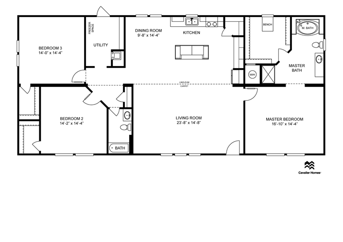 Clayton Homes Home Floor Plan Manufactured Homes Modular Homes Mobile Home 1980 Sq Ft 3 Beds 2 Mobile Home Floor Plans Modular Home Plans Modular Homes
