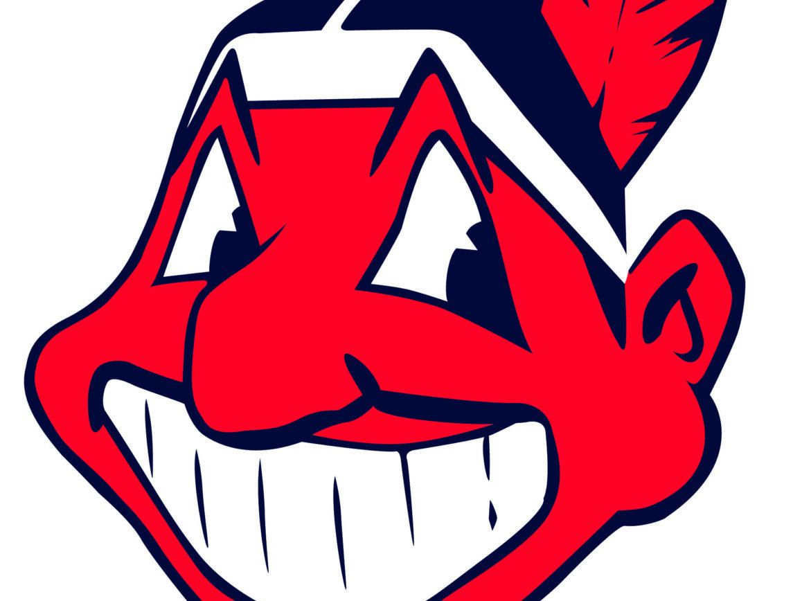 Chief wahoo decal cleveland indians decal indians decal vinyl cleveland indians primary logo chief wahoo facing the left in red and navy blue colours are adjusted slightly for the 1986 season biocorpaavc Choice Image