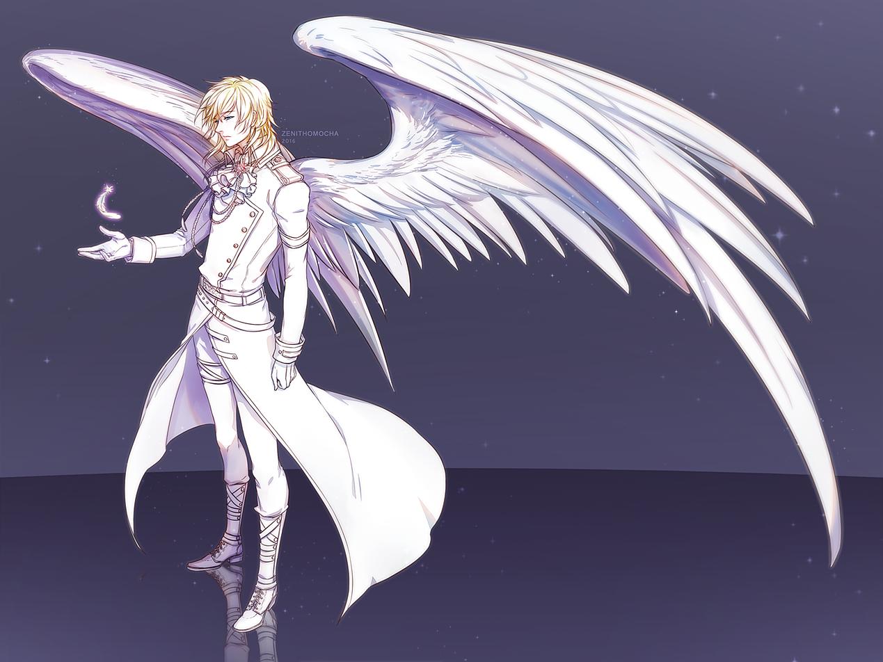 Картинки аниме мальчик демон с крыльями
