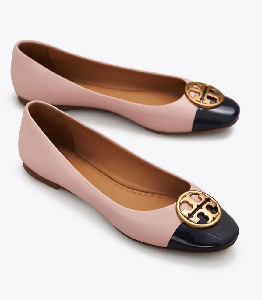 f7e8ebc9a8 Tory Burch CHELSEA CAP-TOE BALLET FLAT in 2019 | #InTheseShoes ...