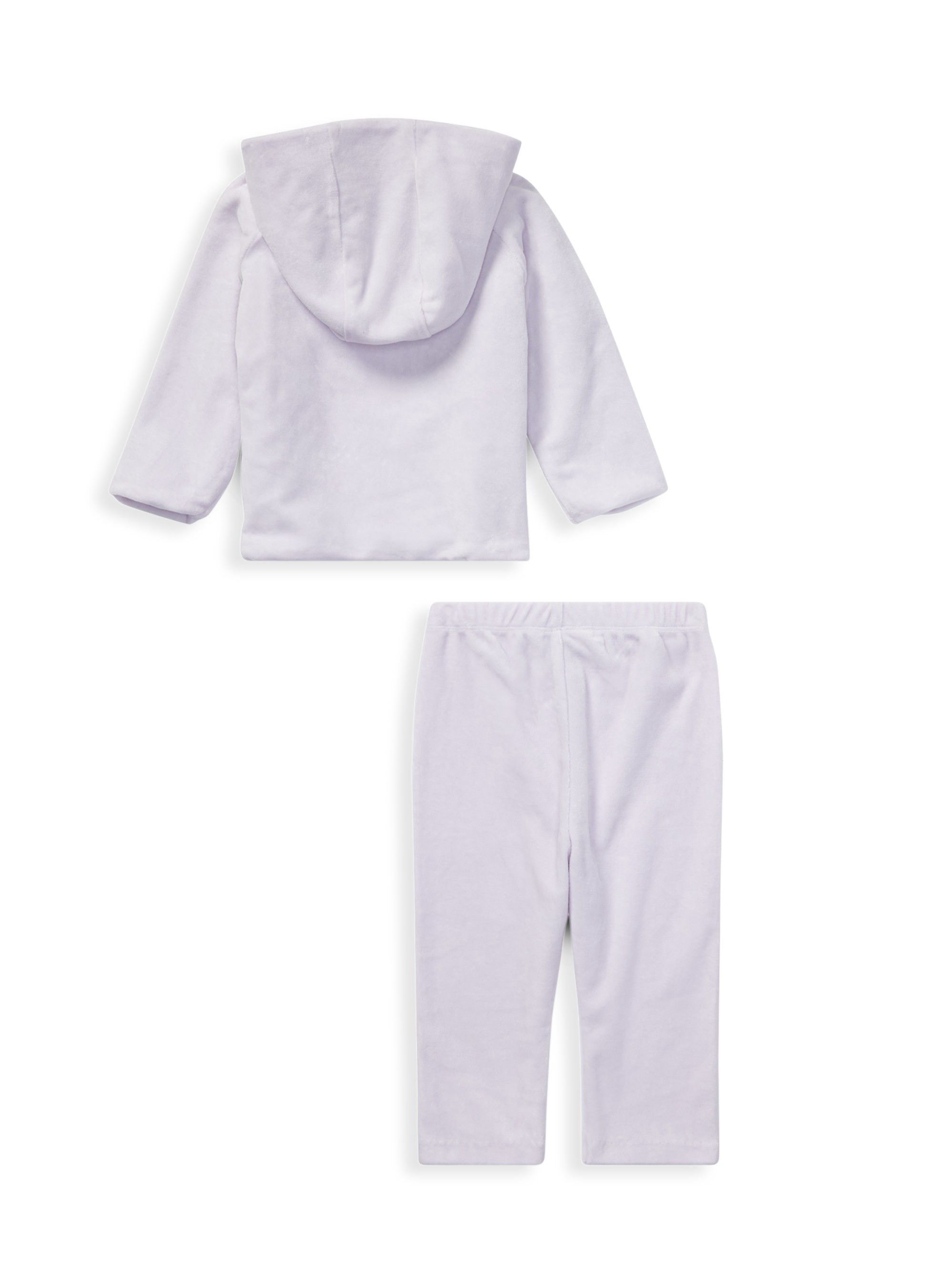 7039a3f66 Ralph Lauren Baby Girl s Two-Piece Hoodie   Sweatpants Set - Purple 9 Months