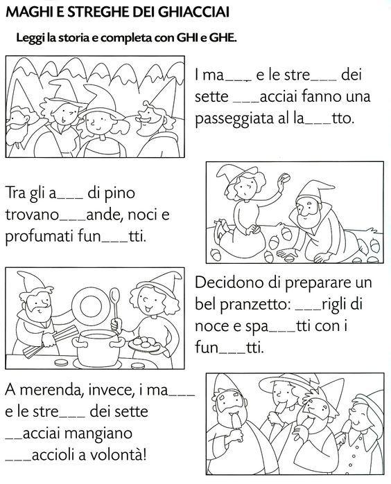 Ghi ghe istruzione pinterest montessori english for Parole con ge gi ghe ghi