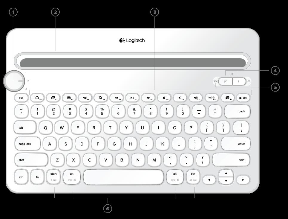 Logitech Bluetooth® Multi-Device Keyboard K480 Immersion