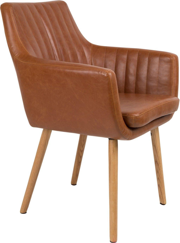 Kussens Voor Eetstoelen.Pike Stoel Cognac Robin Design Kuipstoel Chair