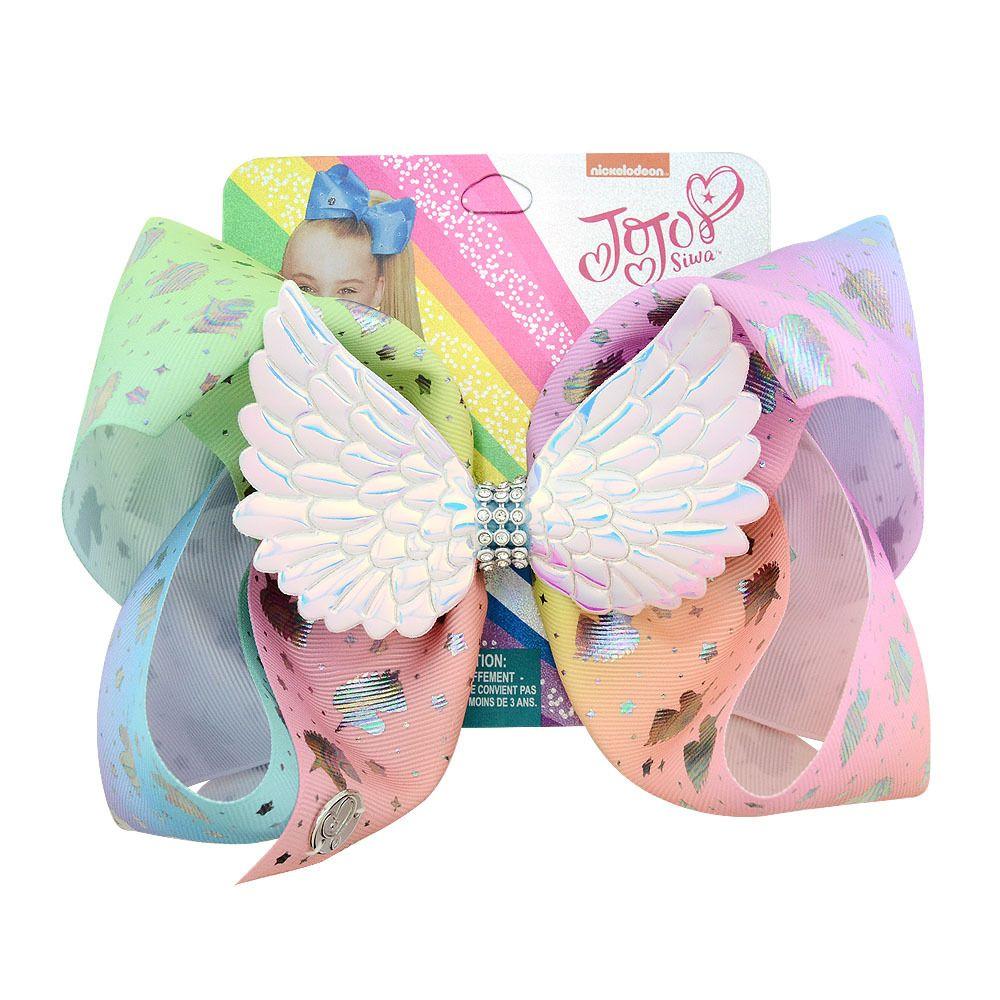 Children JoJo Siwa Bow Cartoon Rainbow Printed Girls Everyday Hair Accessorie