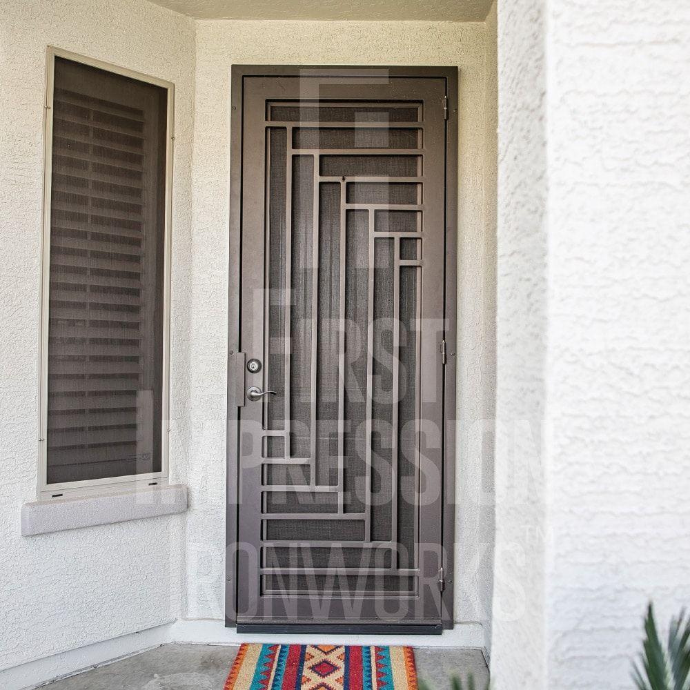 Jazz Iron Security Door First Impression Ironworks In 2020 Grill Door Design Security Door Design Metal Doors Design
