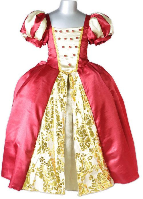 0a033531272 Queen Victoria Royal Red Gold Girls Small 2 - 4 Costume Description This  regal red velvet