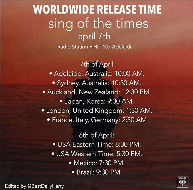Lyric brazil song lyrics : sing of the times | worldwide release times | one direction ...