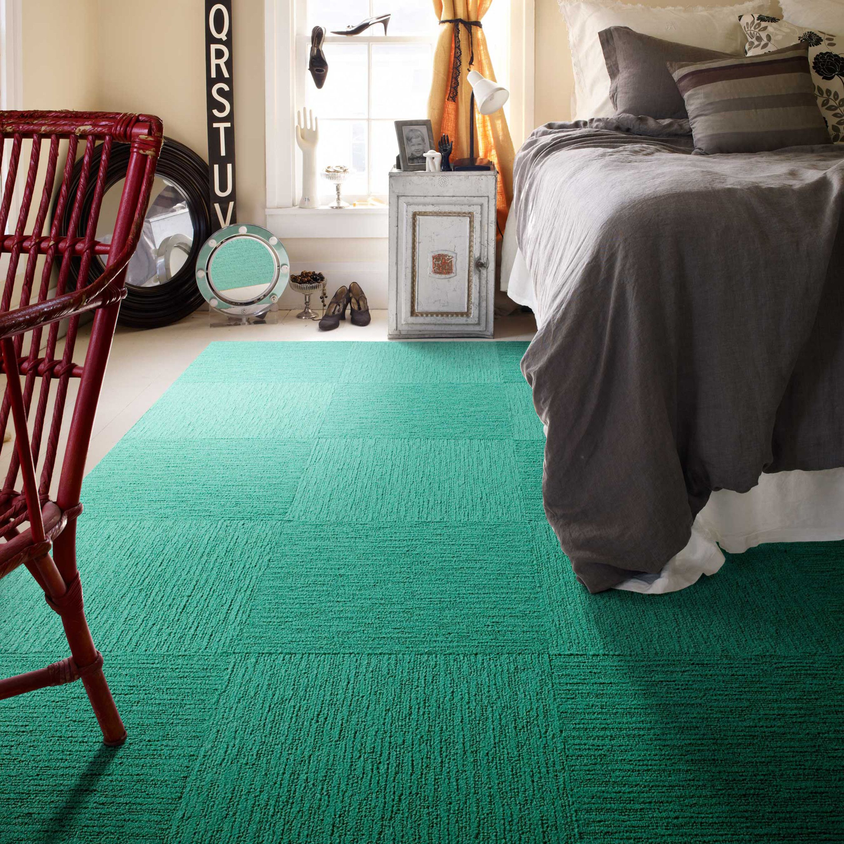 Revamp Your Floors With Pretty Emerald Carpet Tiles Home Decor