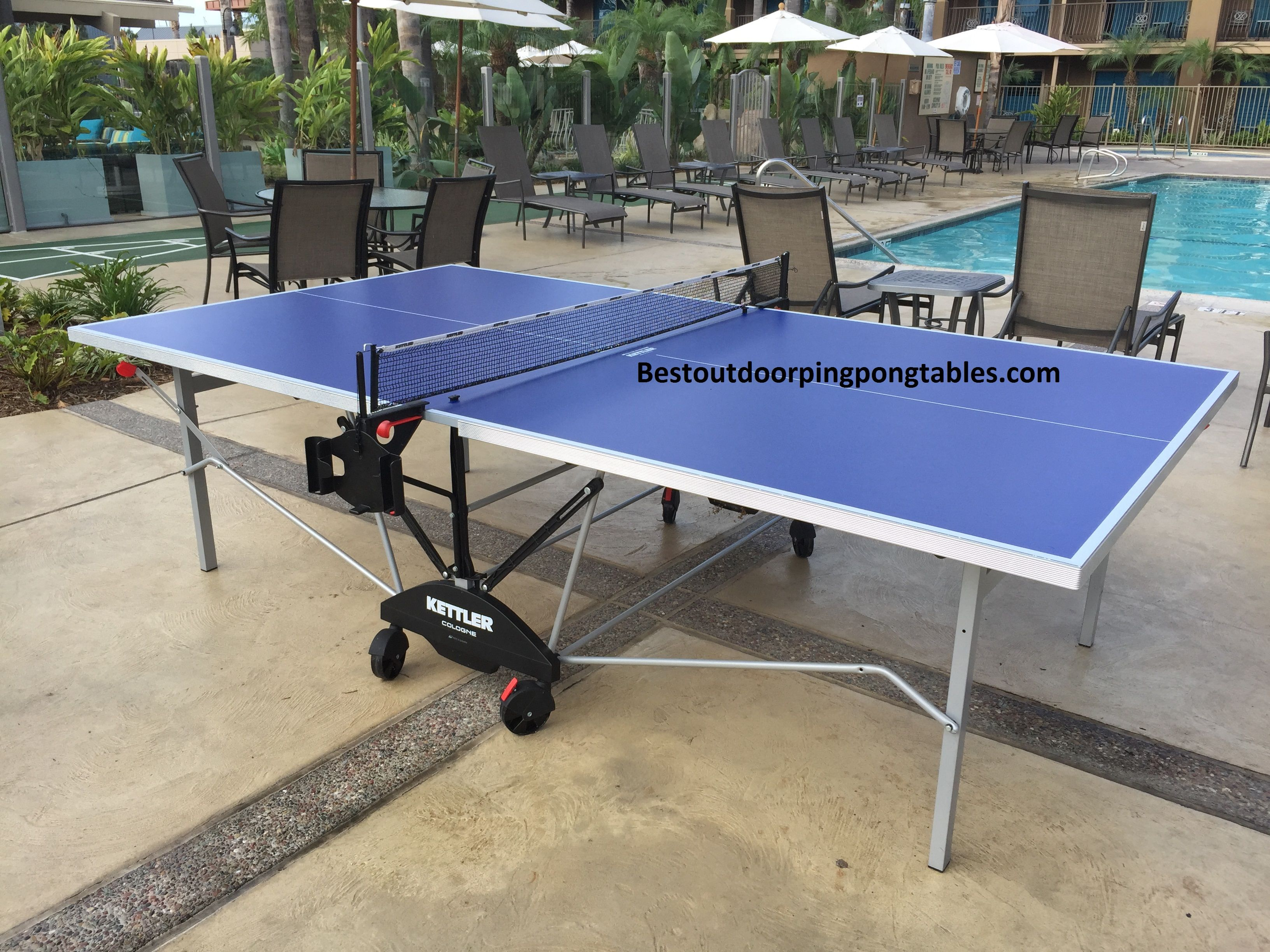 Kettler Cologne Outdoor Ping Pong Table Outdoor Pingpong