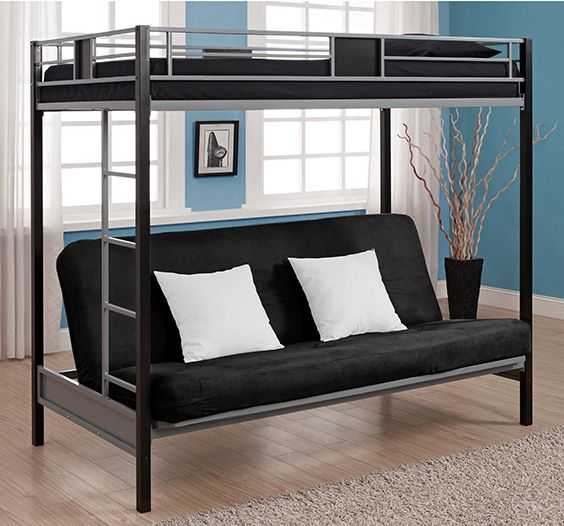 Loft Bed With Couch Modern Bunk Beds