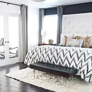 Atmosphere Bedrooms Chic Bedroom Accent Wall Black