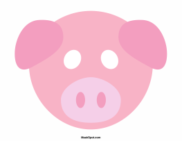 Declarative image intended for printable pig mask