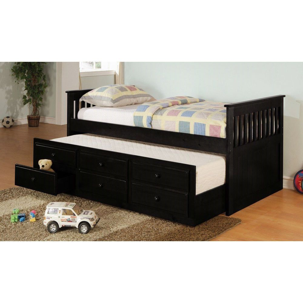 Huntington Beach Daybed with trundle, Twin captains bed