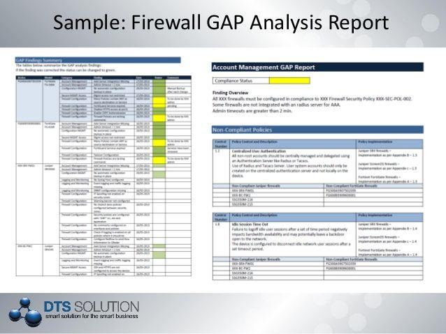 sample mis report firewall gap analysis format excel numbers - analysis report template