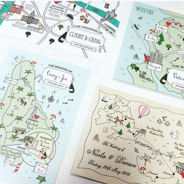 Very cute invitation from #cutemap  Lovely hand-drawing invitations from…