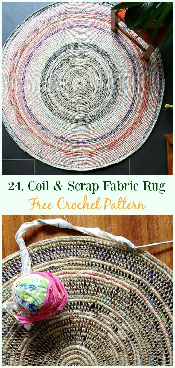 Coil S Fabric Rug Crochet Free Pattern Area Ideas Patterns